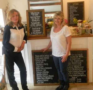 Christina Ratcliffe with Sherrie Fitzgerald, owner of the Whitmore Tea Rooms
